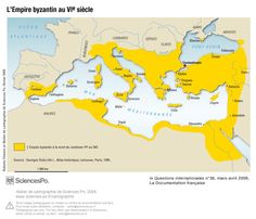 Méditerranée, empire byzantin - VIe siècle