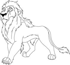 Simba Sit Lion King Coloring Pages Pinterest
