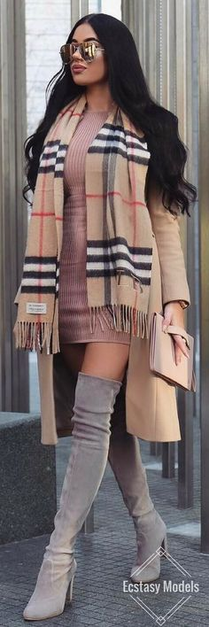 Burberry Scarf // Fashion Look by Laura Badura