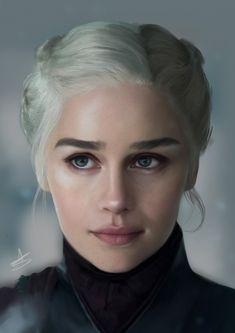 ArtStation - Game of Thrones, Daenerys Targaryen by Anoush Stanboulian Daenerys Targaryen Art, Emilia Clarke Daenerys Targaryen, Game Of Throne Daenerys, Khaleesi, Deanerys Targaryen, Queen Of Dragons, Mother Of Dragons, Elfen Fantasy, Arte Game Of Thrones