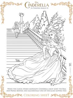 Free Printable Coloring Pages from the new Disney Live-Action Cinderella Movie