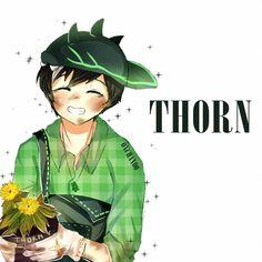 Day 6 - Thorn by on DeviantArt Boboiboy Galaxy, Anime Galaxy, Boboiboy Anime, Anime Art, Cartoon Movies, Cartoon Art, Elemental Powers, Pokemon Comics, Tola