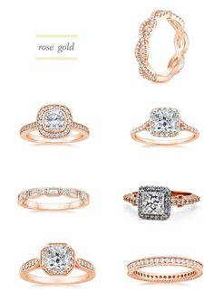 I need a rose gold ring in my life!