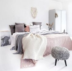 10 ways to create a cozy bedroom decorate bedroom, home deco Cozy Bedroom, Bedroom Decor, Scandinavian Interior, Bedroom Ideas, Dream Bedroom, Scandinavian Style, Bedroom Designs, Trendy Bedroom, Feminine Bedroom