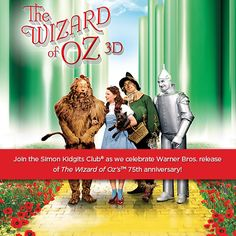 You don't have to trek to the Oz for adventure – come join Simon Malls as they transform the mall into your very own Emerald City and celebrate the release of The #WizardofOz's 75th anniversary www.simon.com/kidgits-wizard-of-oz-event