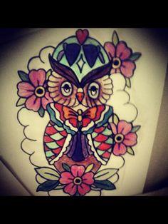 Een tattoo nagetekend.
