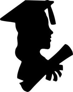 Die Cut Silhouette Graduation Female X 8 for Cardmaking Scrapbooking Crafts for sale Graduation Cap Drawing, Graduation Clip Art, Graduation Crafts, Graduation Party Favors, Graduation Photos, Graduation Silhouette, Broderie Simple, Silhouette Design, Silhouette Projects