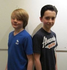 """Dakota Goyo (young Thor) and Ted Allpress (young Loki) from """"Thor"""""""