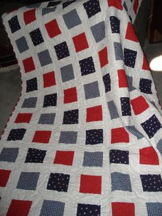 4th of July Quilt by SewcialStudies101 on Etsy, $250.00