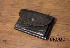 new BROMO folded hand-stitched leather wallet