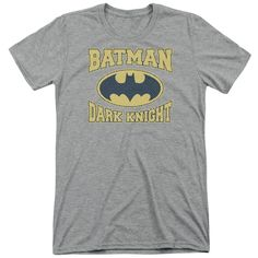 """Checkout our #LicensedGear products FREE SHIPPING + 10% OFF Coupon Code """"Official"""" Batman / Dark Knight Jersey-short Sleeve Adult Tri-blend-athletic Heather-sm - Batman / Dark Knight Jersey-short Sleeve Adult Tri-blend-athletic Heather-sm - Price: $44.99. Buy now at https://officiallylicensedgear.com/batman-dark-knight-jersey-short-sleeve-adult-tri-blend-athletic-heather-sm"""