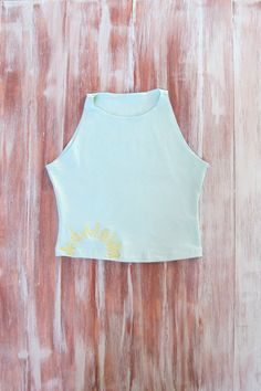 Sun Crop Top-Womens Sun Sleeveless Crop by ZellyaDesigns on Etsy