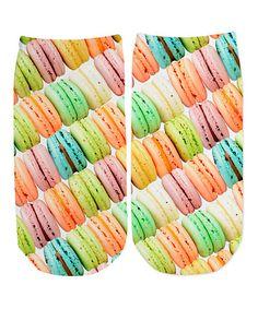 Look at this #zulilyfind! Macaron Sublimated No-Show Socks - Kids #zulilyfinds