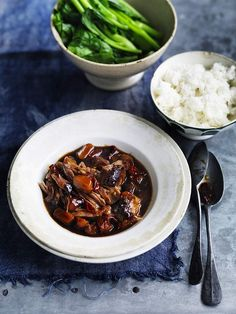 Neil Perry's braised pork with water chestnuts. (recipe here).