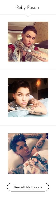 """""""Ruby Rose x"""" by thefriendlypsychopath ❤ liked on Polyvore featuring ruby rose, ruby, people, accessories, hair accessories, rose hair accessories, justin bieber, inge, celebs and jewelry"""