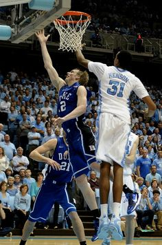 Kyle Singler and John Henson - North Carolina John Henson, Unc Tarheels, Blue Devil, Duke Basketball, Tar Heels, North Carolina, Sports, Hs Sports, Sport