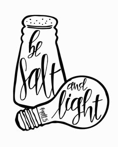 'Be Salt And Light' Photographic Print by Scripture Art, Bible Art, Bible Verses Quotes, Bible Scriptures, Idees Cate, Journaling, Salt And Light, Bible Coloring Pages, Bible Lessons