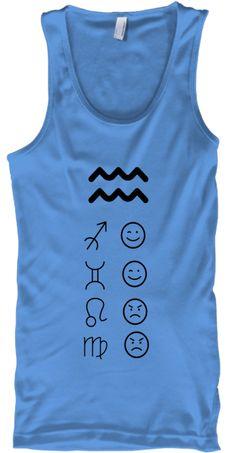 Aquarius Love Tanks Light Carolina Blue T-Shirt Front