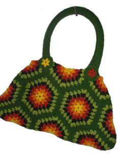 BIG SHOPPER HeXagon Crochet Bag Granny Square by creativeisland