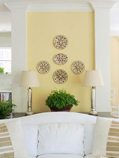 soft yellow brightens up a room