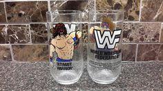 Vintage WWF World Wrestling Federation Party Hats 8 pieces Titan 1991 Hulk Hogan, Ultimate Warrior, Jake the Snake NEW Hulk Hogan, Vintage Home Decor, Party Hats, Drinking, My Etsy Shop, Wrestling, Mugs, Glasses, Check
