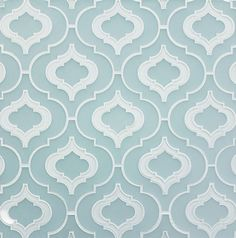 Detailed Moroccan tiles for an all white kitchen with white marble tops...yes, please!!! *E*