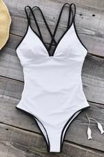 Cupshe As White As Snow One-piece Swimsuit #swimsuitsonepiece #swimwear
