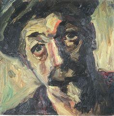 Merton Clivette - Self Portrait 16x16 oil Merton Clivette - Estate #MertonClivette