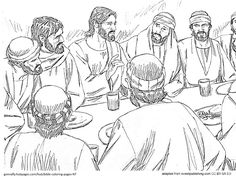 The Last Supper... and other Bible Coloring Pages - New Testament