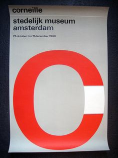 Stedelijk Museum Amsterdam  Corneille - Design by Wim Crouwel  1966