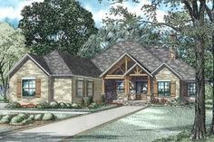 House Plan 110-01027 - Mountain Rustic  Plan: 2,879 Square Feet, 3 Bedrooms, 2.5 Bathrooms