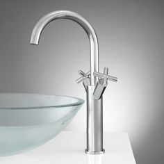 Aviston Single-Hole Vessel Faucet with Pop-Up Drain