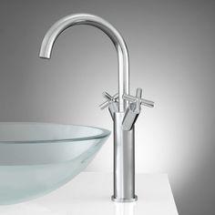 Aviston Single-Hole Vessel Faucet with Pop-Up Drain $150