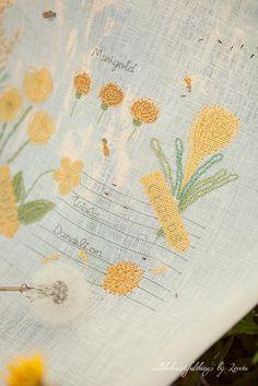 Yellow Flowers  (Kazuko Aoki) by loretoidas, via Flickr
