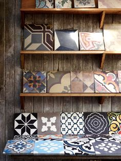 Cement Tiles: The studio of Jatana Interiors, photo by Toby Scott via thedesignfiles.net