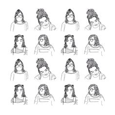 """""""good morning,, I was doing a lot of driving around and sitting around listening to old people talk yesterday so I did a few drawings of Dodie and made…"""""""
