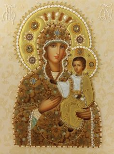 "Self-Painted Icon of the Mother of God - ""Self-Painted"" is in fact the name of…"