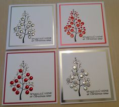 Woodware festive bubble tree Homemade Christmas Cards, Christmas Tree Cards, Xmas Cards, All Things Christmas, Cricut Cards, Stampin Up Cards, Bubble Tree, Bubble Christmas, Craftwork Cards