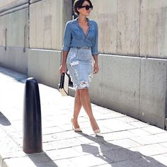 Style Crush: @sara_che_ keeps it chic, rockin' #doubledenim for the win! We love how #Oneteaspoon 's free love skirt is distressed but still can be worn so sleek. Shop yours now during our christmas sale and receive 15% OFF  #oneteaspoonfreelove #ootd #inspiration #wiwt #fashioninspo #fblogger #sarache #style #holidayshop #azzurracapri #sdboutique