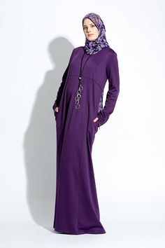 #Abaya#Maxi Dress Vivienne combines comfort with a casual look. mix and match for Your #Hijab Fashion #IZZApin izzafashion.com