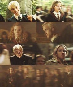 Let's just all except the fact that Draco was staring DIRECTLY at Hermione.