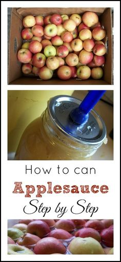 How to Can Applesauce - Step by Step | The Coupon Project (Apple Recipes To Freeze)