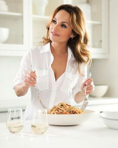 My favorite chef, Giada. I have learned so much from watching her on The Food Network for the past 10 years.
