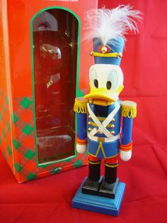 "RARE!!! Disney Christmas Collection Donald Duck 9"" Nutcracker w/Box"