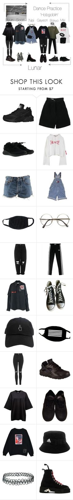 """Lunar 음력 'Hobgoblin' Dance Practice"" by lunar-official ❤️ liked on Polyvore featuring NIKE, Retrò, adidas, Levi's, Ralph Lauren, Boutique, Converse, Topshop, Vans and Off-White"