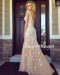 Sweetheart Girl | A-line backless Lace Prom Dresses, Lace Evening Dresses | Online Store Powered by Storenvy