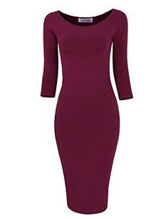 Tom's Ware Womens Classic Slim Fit Bodycon Midi Dress TWFR049-D059-WINE-L/XL Tom's Ware http://www.amazon.com/dp/B00NGIKL7A/ref=cm_sw_r_pi_dp_V71lvb00F80BN