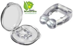 Rami Naturals Anti Snore Nose Clips - Decrease Snoring - Breathe Easier - Reduce Sleep Apnea - Travel Case and Instructions by Rami Naturals® - Best Anti-Snore Nose Clips