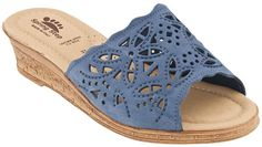 Spring Step Estella in Blue Nubuck from PlanetShoes.com