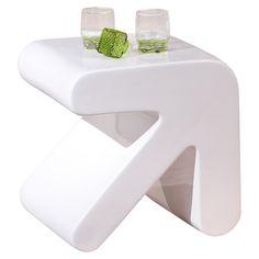 Erat Side Table in White